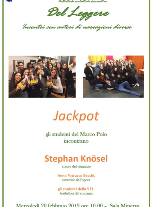 INCONTRI CON L'AUTORE: gli studenti del Marco Polo incontrano Stephan Knosel