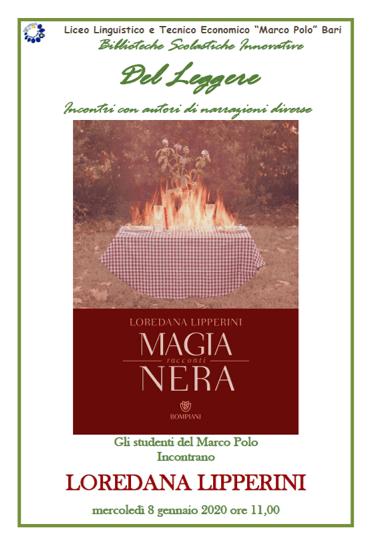 """INCONTRO CON L'AUTORE: gli studenti del Marco Polo incontrano Loredana Lipperini con""""Magia Nera"""""""