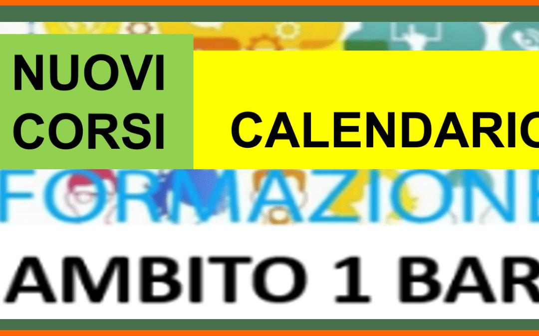 FORMAZIONE BA1- NUOVI CORSI DI FORMAZIONE-CALENDARIO E MODALITA' DI ISCRIZIONE