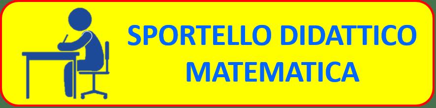 ATTIVAZIONE SPORTELLO DI RECUPERO MATEMATICA